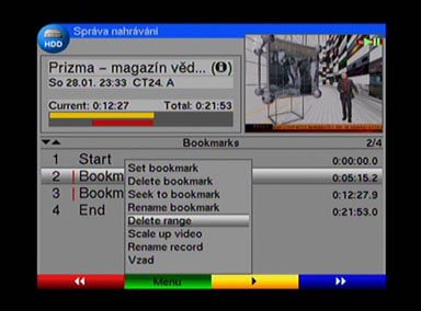 TechniSat DigiCorder T1 editace