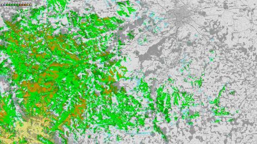 Mapa pokrytí - Hoher Bogen
