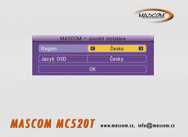 Mascom MC 520T instalace