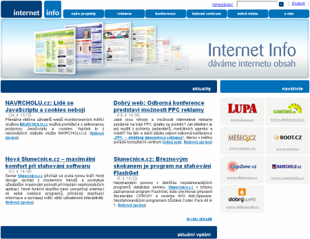 Internet Info - screenshot - nový