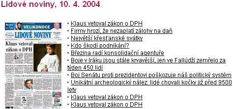 Klaus vetoval zákon o DPH
