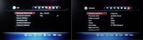 LG MS450H síť a další nastavení