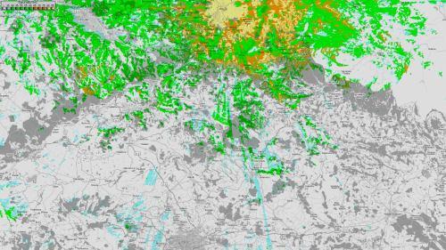 Mapa pokrytí - Löbau