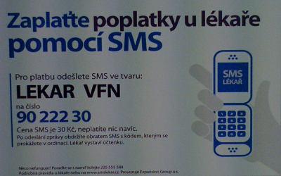 SMS Lékař leták