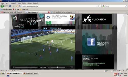 MS fotbal 2010 - web EBU úvodní strana
