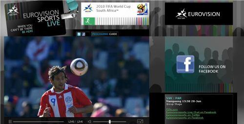 MS fotbal 2010 - web EBU stream zápasu SK-PAR