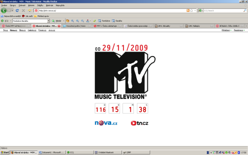MTV Czech web odpočítávání