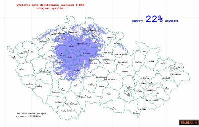 Mapa T-DAB Teleko 1