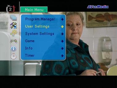 AVer Media STB7 menu