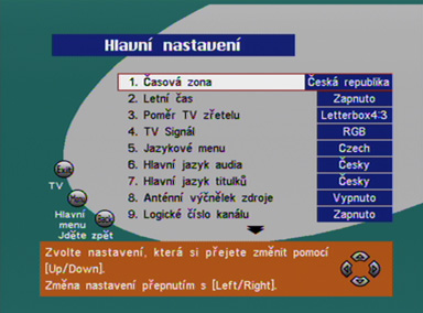 Radix Terra 100 menu