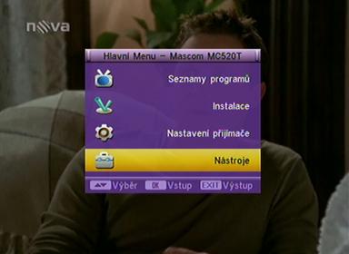 Mascom MC 520T menu