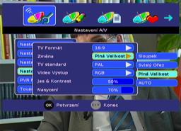 Sencor SDB 3007T menu 16-9