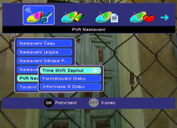 Sencor SDB 3007T menu HDD I