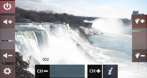 Mio Moov V700 - menu Digital TV