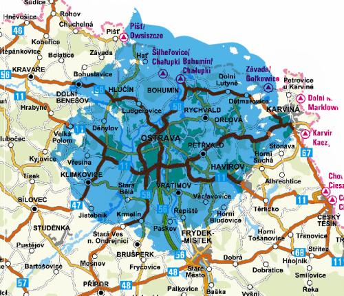 Mux 3 - pokrytí Ostrava Hladnov
