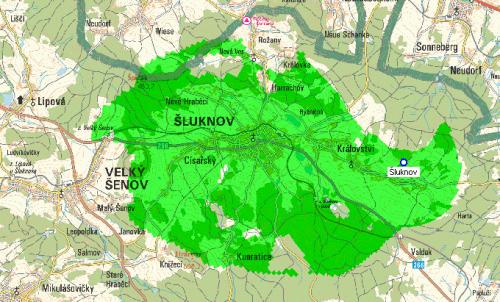Mux 1 - pokrytí Šluknov vrch Pytlák