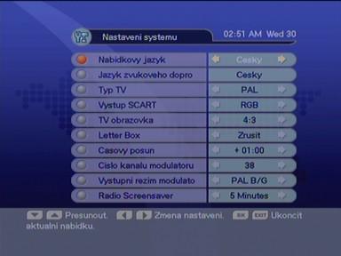Homecast eM-1150 nastaveni