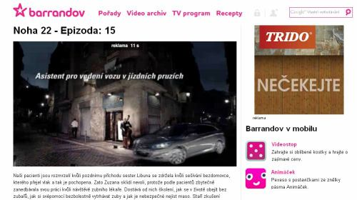 TV Barrandov - web Noha 22