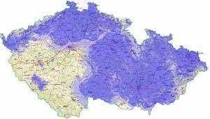 Nova analog - pokrytí ČR k 29.7.2010
