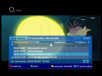 O2TV -  TV průvodce