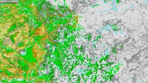 Mapa pokrytí - Ochsenkopf