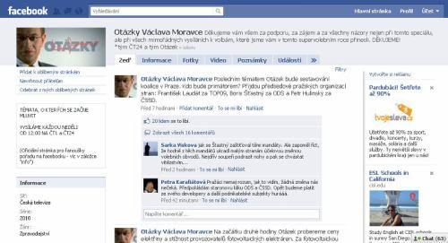 Otázky Václava Moravce - Facebook