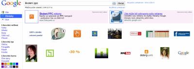 Ukázka reklamy v obrázcích Google