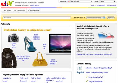 eBay titulní stránka