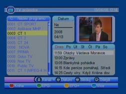Porte DVB-8199 EPG
