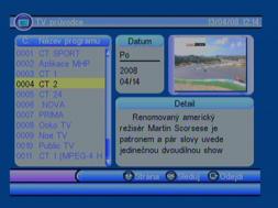 Porte DVB-8199 EPG detail