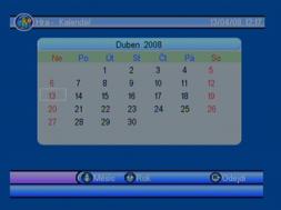 Porte DVB-8199 kalendar