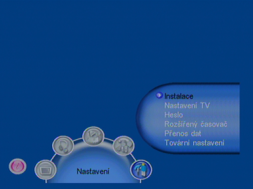 Porte DVB-8199 menu