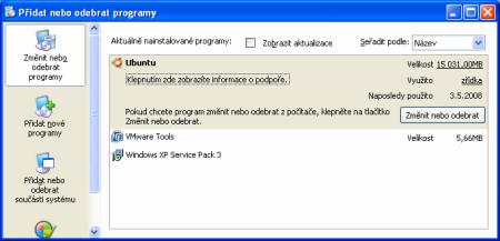 Přidat nebo odebrat programy