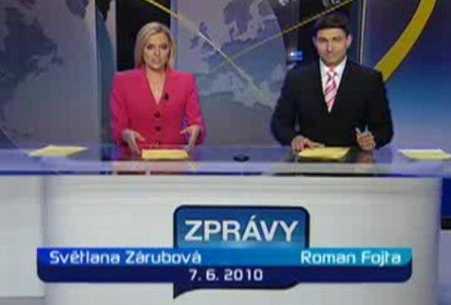 Zprávy TV Prima - dočasné studio 7.6.2010