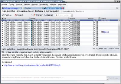 RSS screenshot