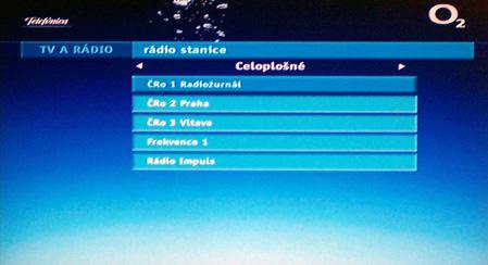 O2 TV rozhlas