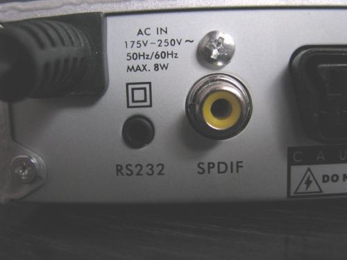 FTE MAX T115 zadní panel - detail