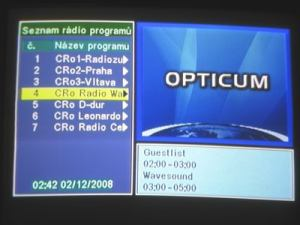 Opticum 7002T - menu 13