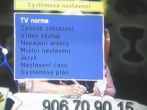 Opticum 7002T - menu 9