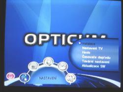 OPTICUM 7003T plus základní menu