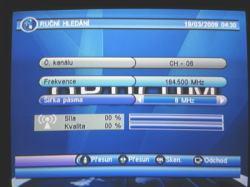 OPTICUM 7003T plus nastavení TV
