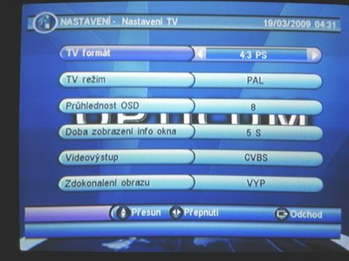 OPTICUM 7003T plus nastavení TV 2
