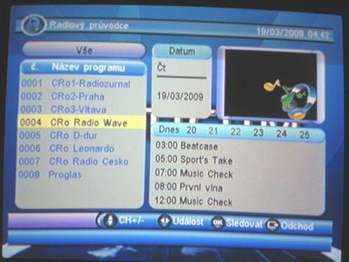 OPTICUM 7003T plus EPG radio