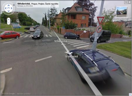 Google Street View - Nabořil značku