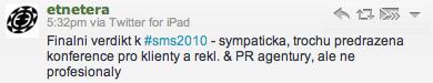 Social Media Summit 2010 tweet