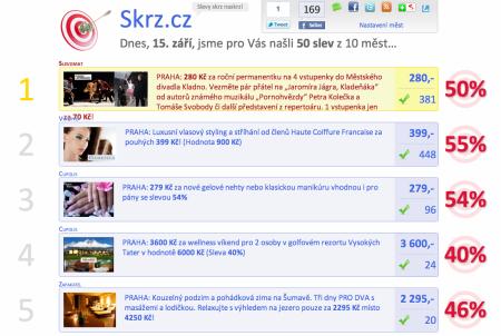 Skrz.cz - co je dnes kde levně