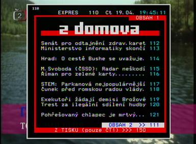 Sencor SDV-8801T teletext