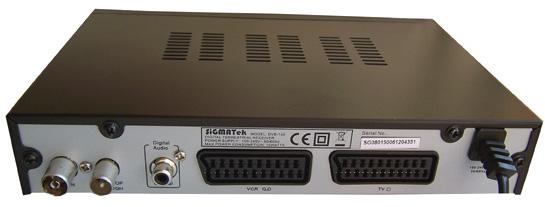 SiGMATek DVB-150 zezadu