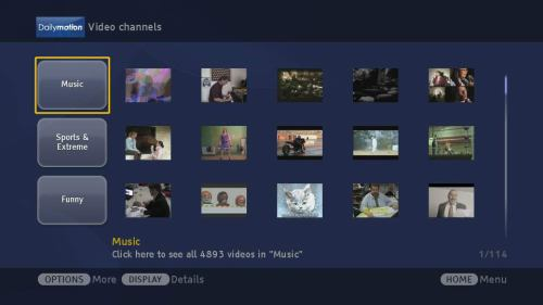 Sony Bravia Internet Video