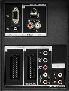 Sony Bravia S2000 konektory